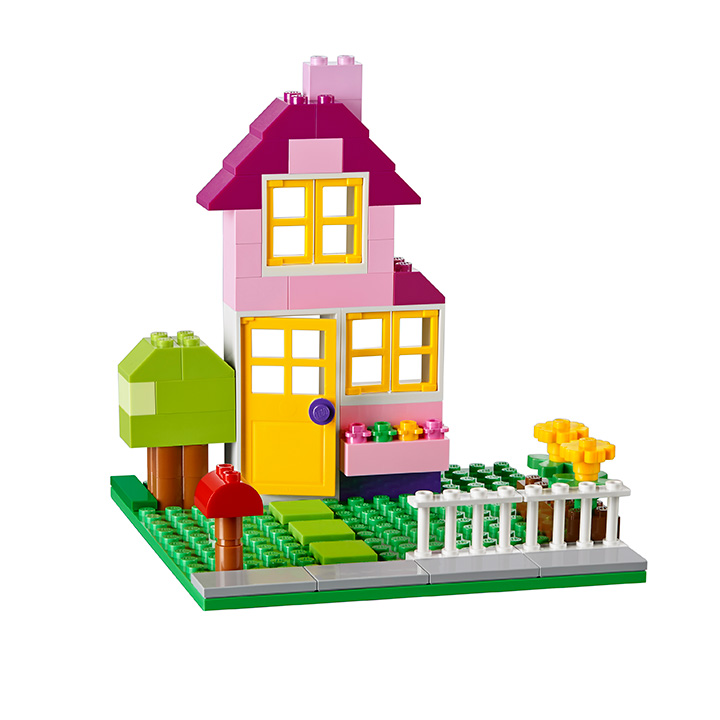 LEGO Classic 10698 LEGO Large Creative Brick Box Pink two story house