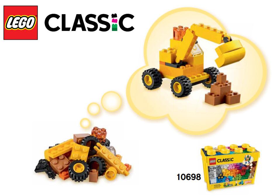 レゴ 10698 ショベルカー 作り方