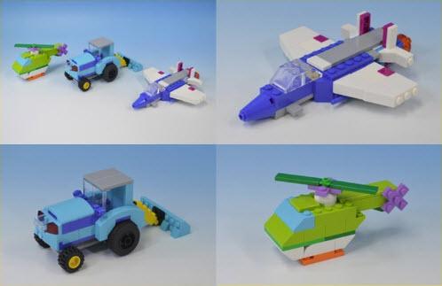 レゴ (LEGO)クラシック 10698 ジェット機 トラクター ヘリコプター