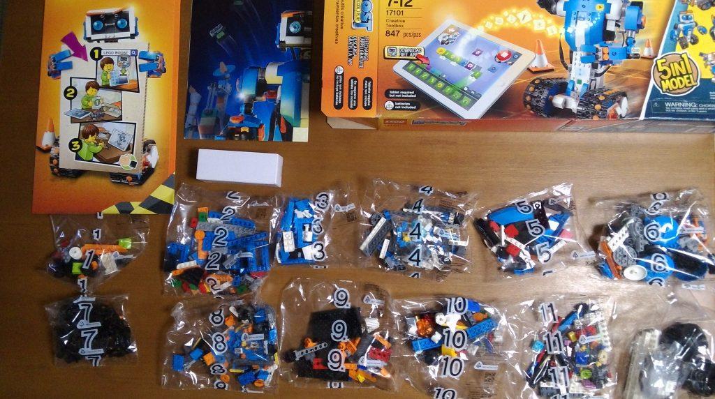 レゴブースト クリエイティブ・ボックス LEGO BOOST Creative Toolbox 17101の内容